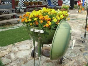 Creative Ways to Upcycle a Grill_ Flower Pot