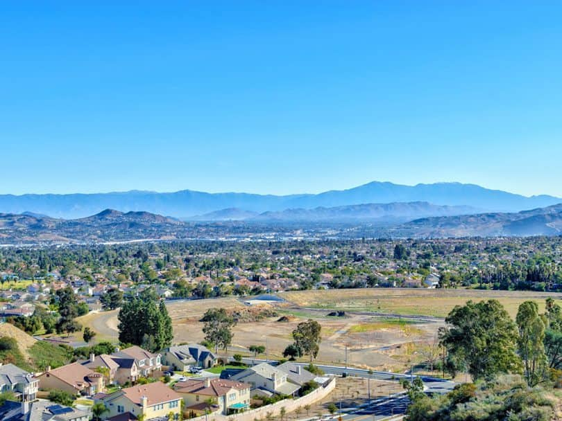 Landscape view of the Inland Empire