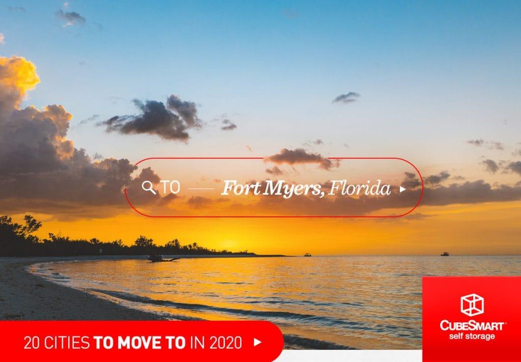 Fort Myers, Florida bei Sonnenuntergang