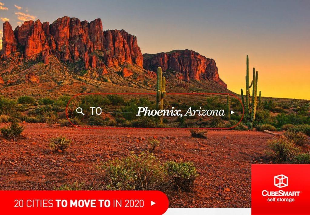 Wüstenszene in der Nähe von Phoenix, Az bei Sonnenuntergang