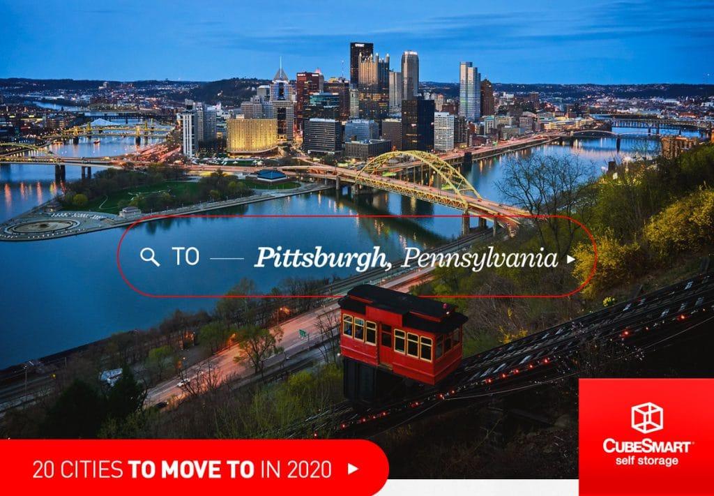 Luftaufnahme von Downtown Pittsburgh, pa