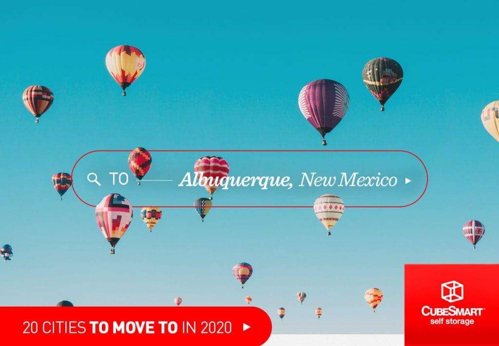Heißluftballons vor Albuquerque, nm