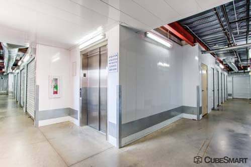 CubeSmart Self Storage interior hallway in Mansfield Texas