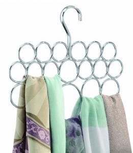 scarves on a hanger