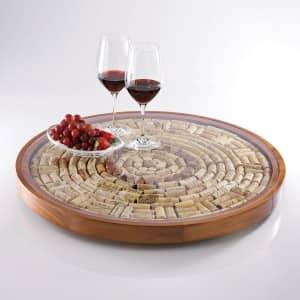 Lazy susan with wine