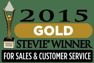 Gold Stevie Award for Customer Service