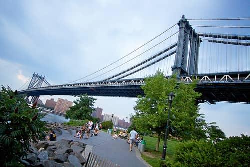 Outdoor park in Brooklyn, New York