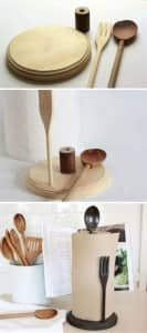 Paper Towel Holder Upcycle_Kitchen Utensils