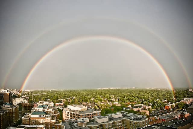 Rainbow in Arlington, Virginia