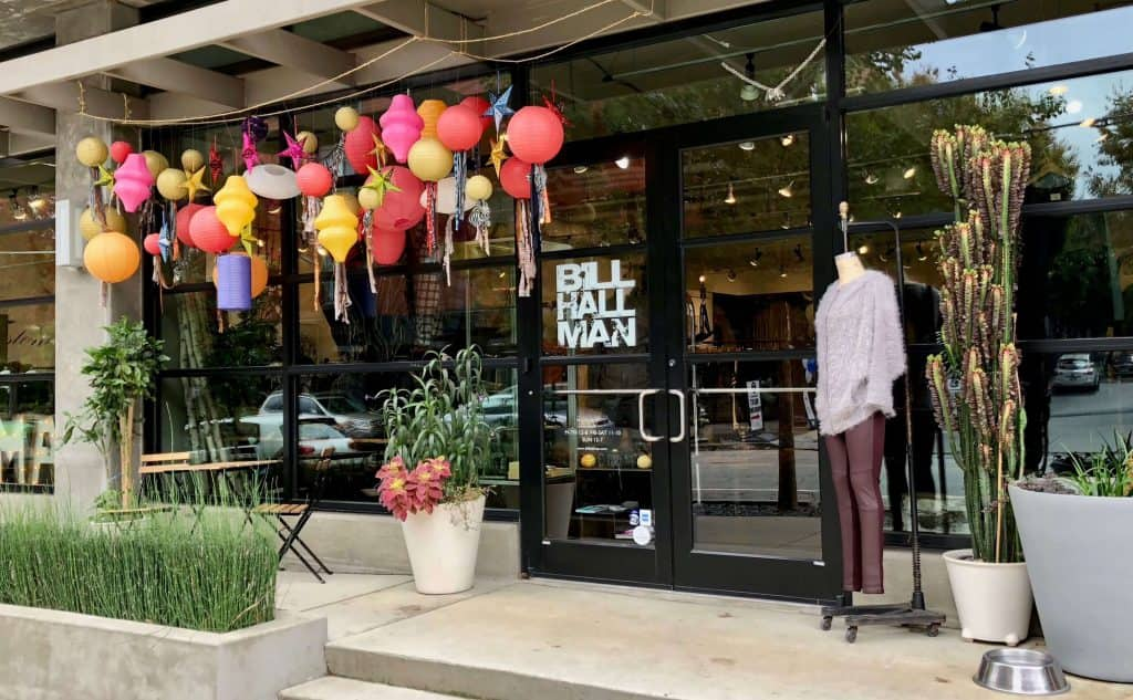 storefront display at Bill Halllman in Atlanta, GA