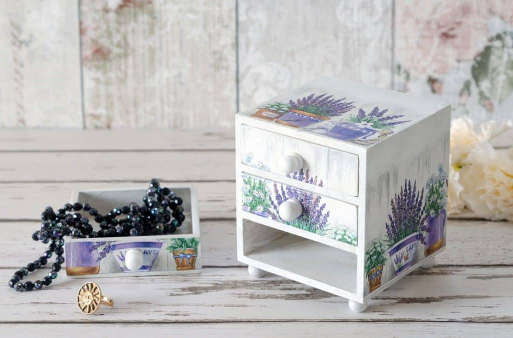 Decoupage Jewelry Box For Storage