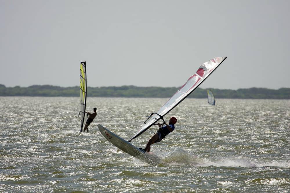 Windsurfers on Corpus Christi Bay, Texas