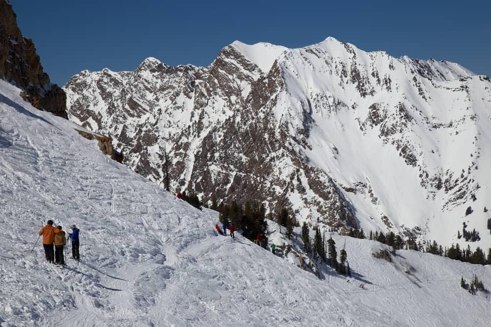 Skiing in Little Cottonwood Canyon, Utah