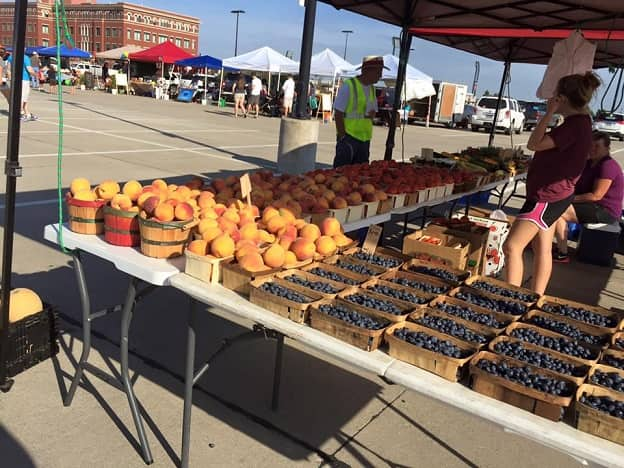 Fruit stand at the Frisco Rotary Farmers Market in Frisco, Texas