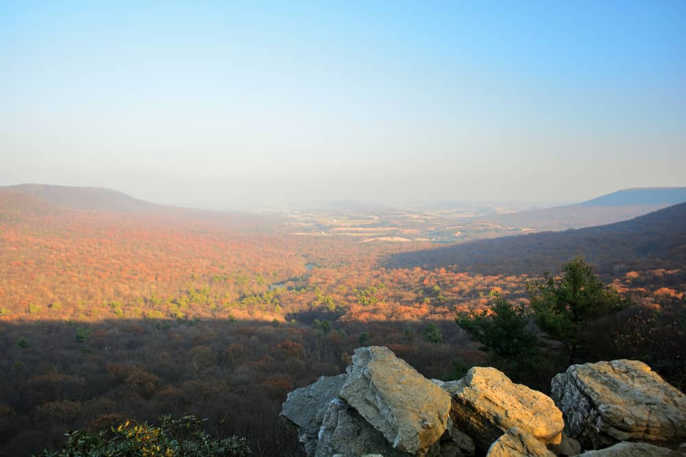View from Hawk Mountain Overlook in Pennsylvania