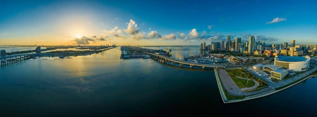 Panoramic view of Miami, Florida