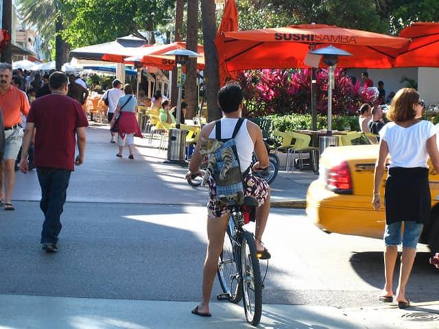 Lincoln Road in South Beach, Miami, Florida