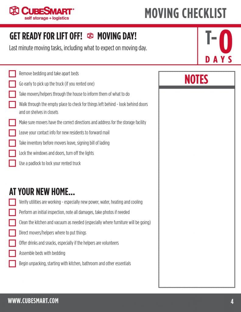 Moving Checklist to Keep You Sane While Relocating – Moving Checklist