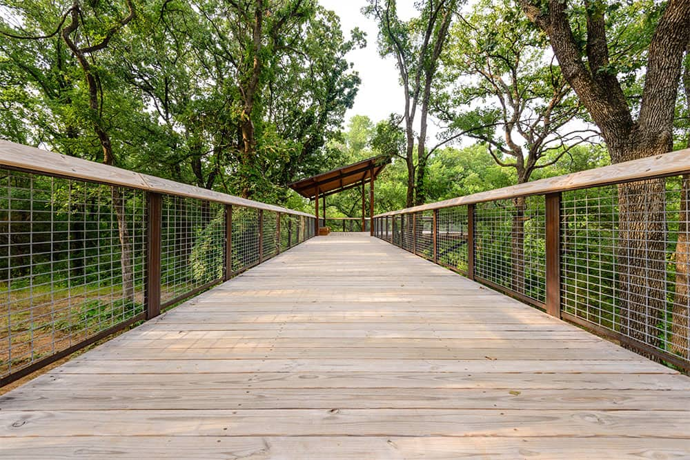 Oliver Park Mansfield Texas Walking Bridge