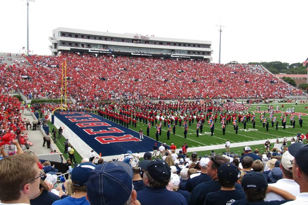 Oxford Mississippi Ole Miss Rebels football game