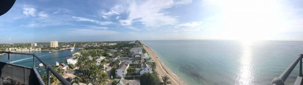 panoramic view of Pompano, FL