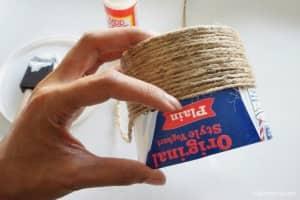 plant pot_repurposed yogurt container