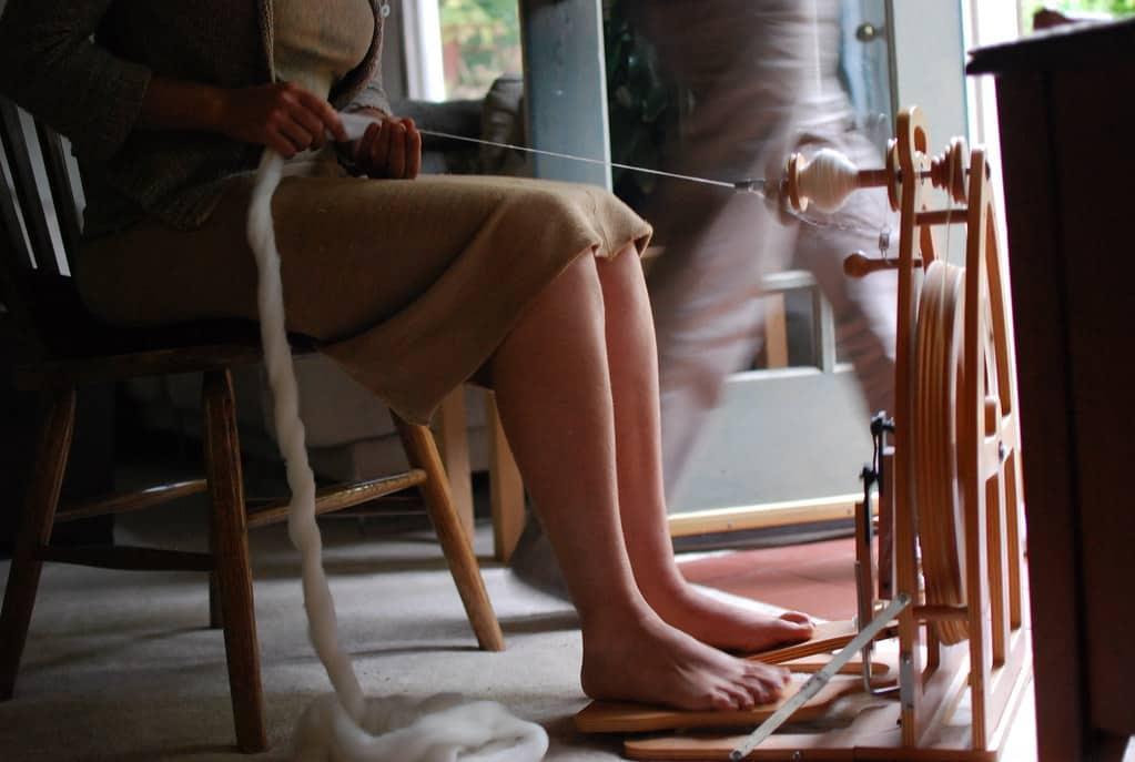 San Francisco weaver upcycling textiles