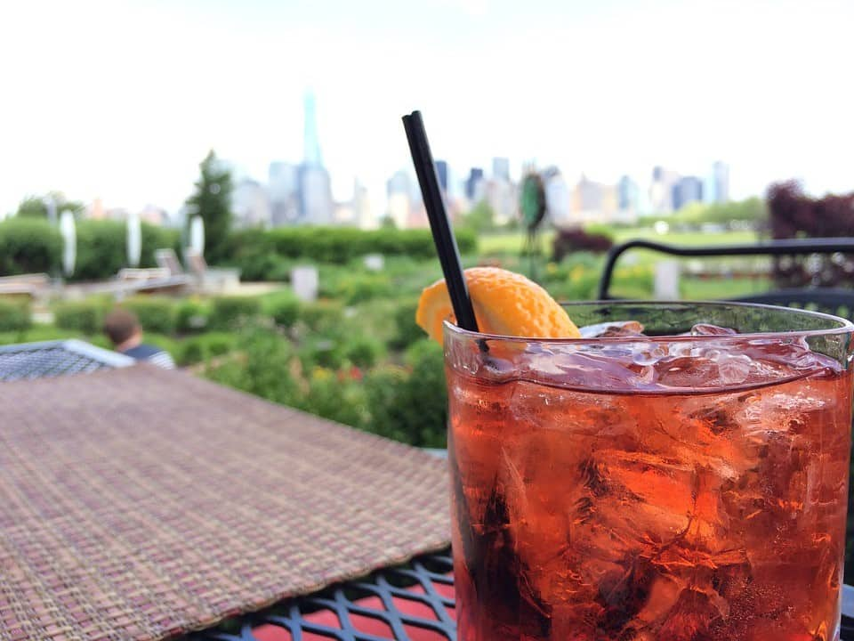 Spring drinking outside in New York