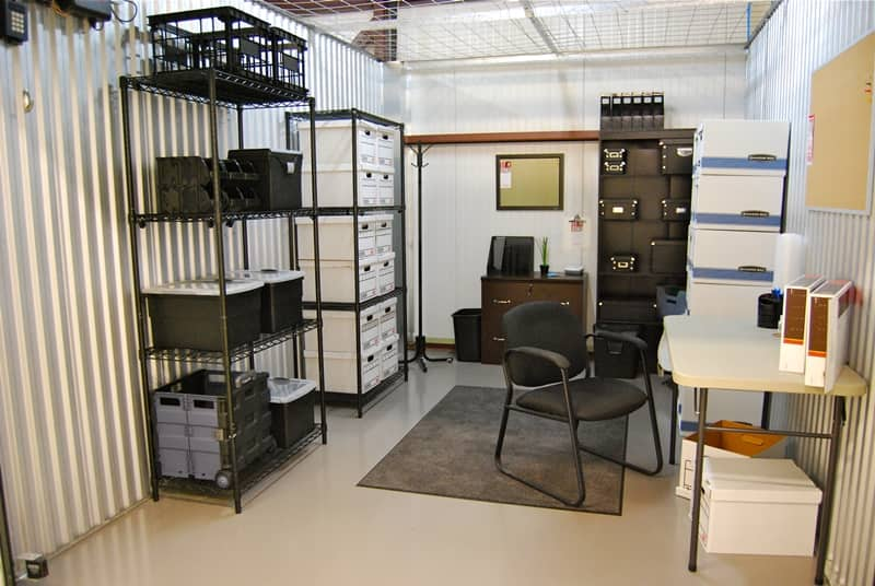 Storage Unit With Shelves Desk And Chair