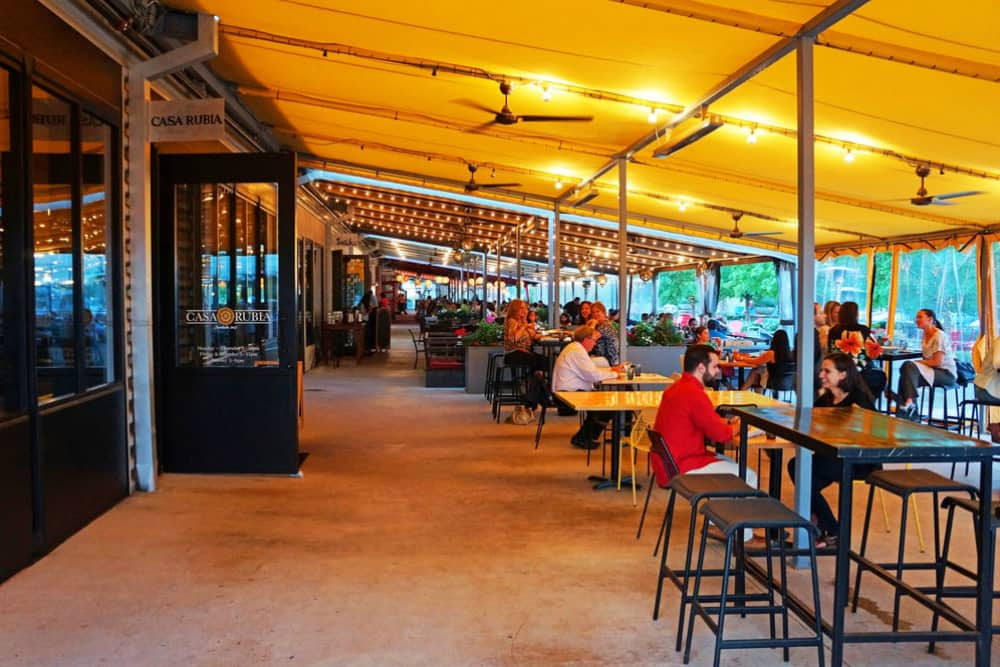 restaurant patio in Trinity Groves Dallas