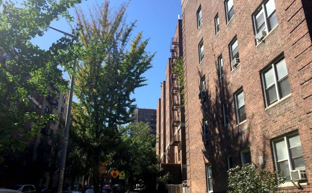 Street view in Washington Heights, New York City