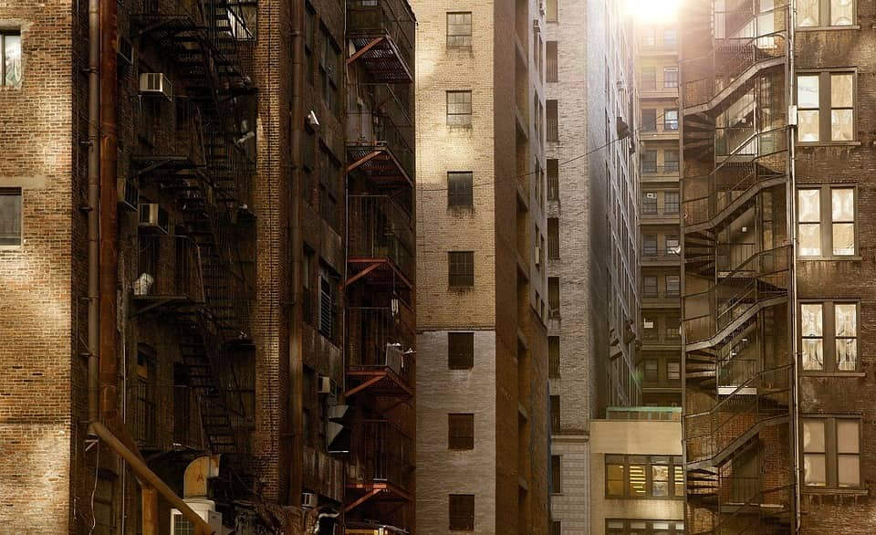 apartment buildings in New York City