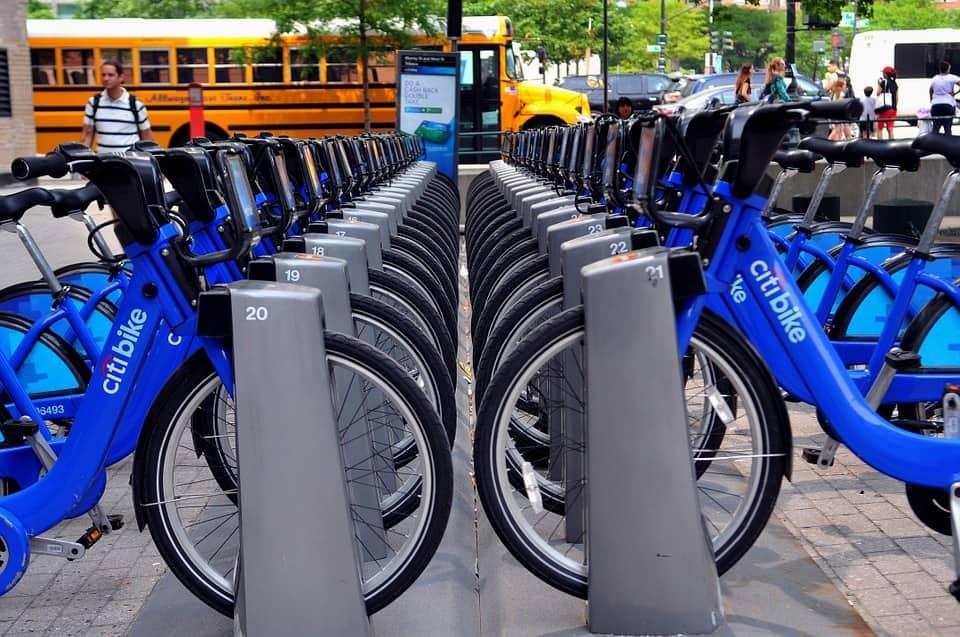 Citi bike rentals in New York City