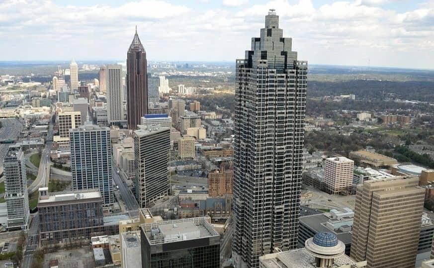view of Atlanta buildings