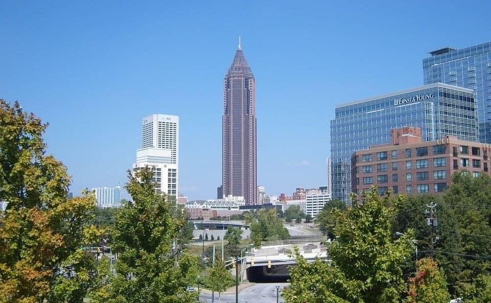 view of buildings in Atlanta