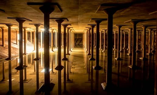 view of the Cistern, an underground space in Houston, Texas