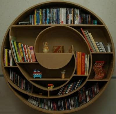 CubeSmart posted an article about 12 cool bookshelves. Talk about bookcase  envy!