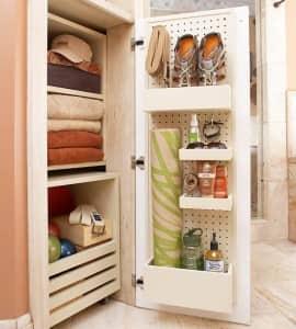 Cabinet Door Pegboard _Pegging Storage