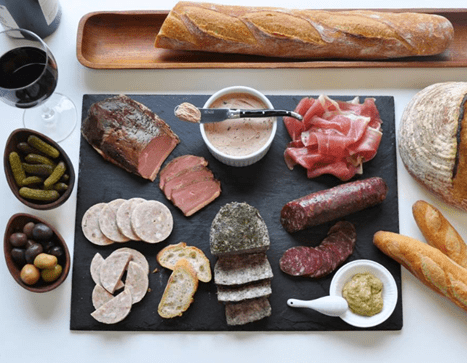 charcuterie platter from Sweet Basil Catering in New York City