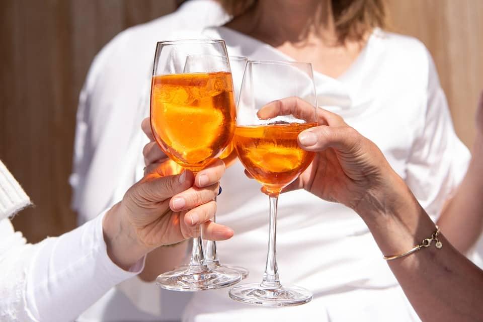 people holding wine glasses