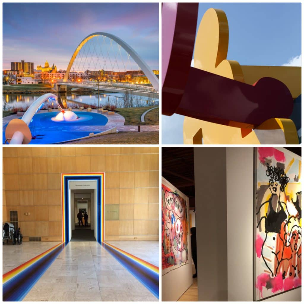 Des Moines, IA art museums and public art