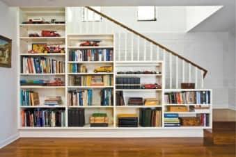 Basement Storage_Built In Shelves Or Bookcases