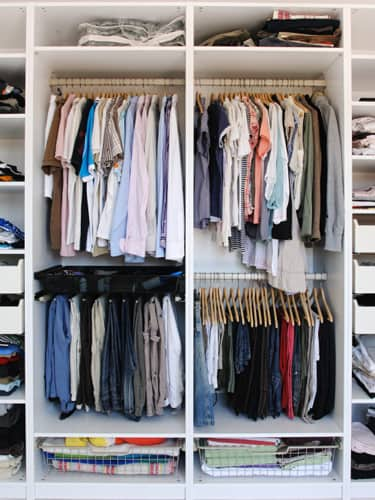 Double Rod Closet : Ways to add storage in your home office