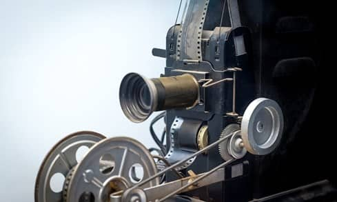 old school filming camera