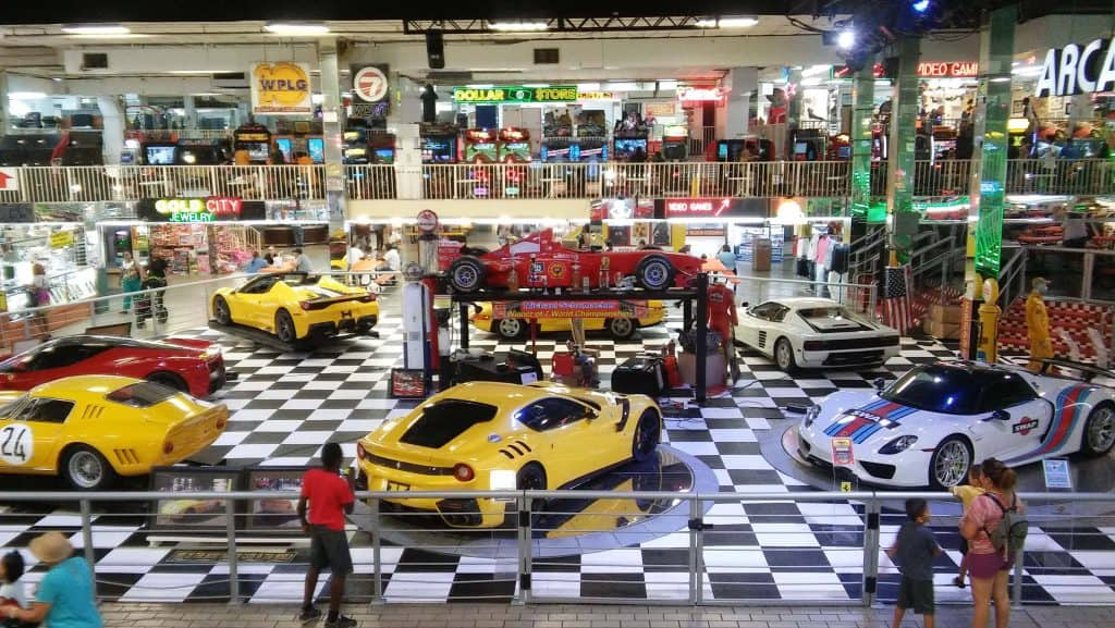 Ferraris on display at the Florida Swap Shop in Fort Lauderdale, Florida
