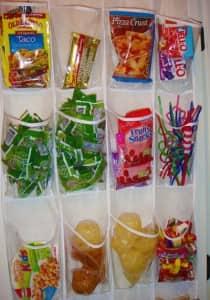 snack organization_hanging pocket organizer