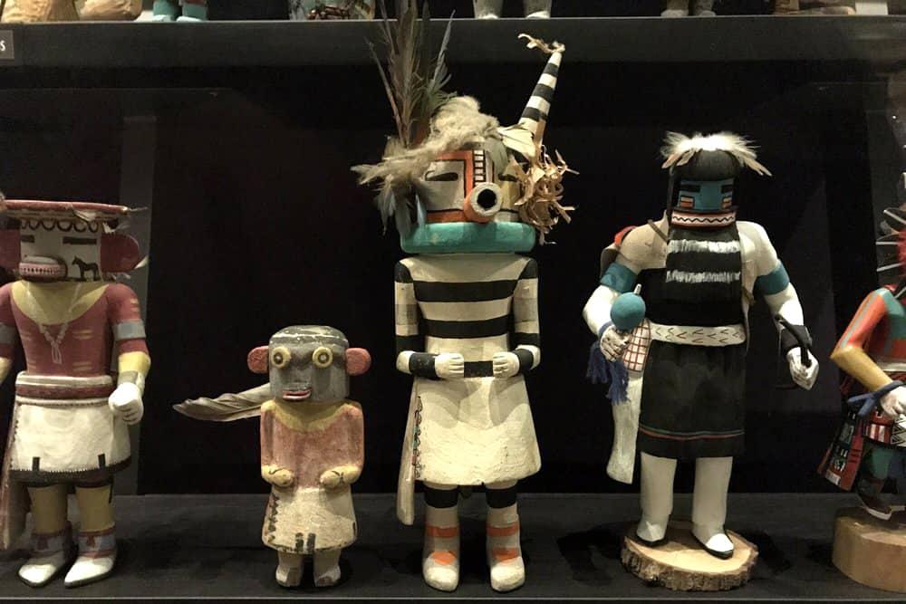 Colorful katsina dolls at the Heard Museum in Phoenix, AZ