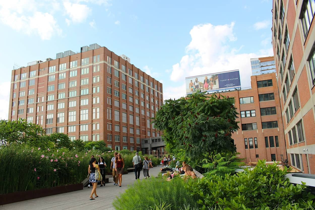 The Highline Park in Chelsea Neighborhood of NYC
