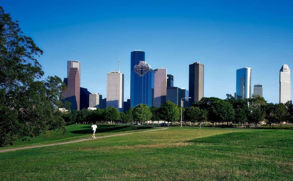 Skyline of Houston on a sunny day