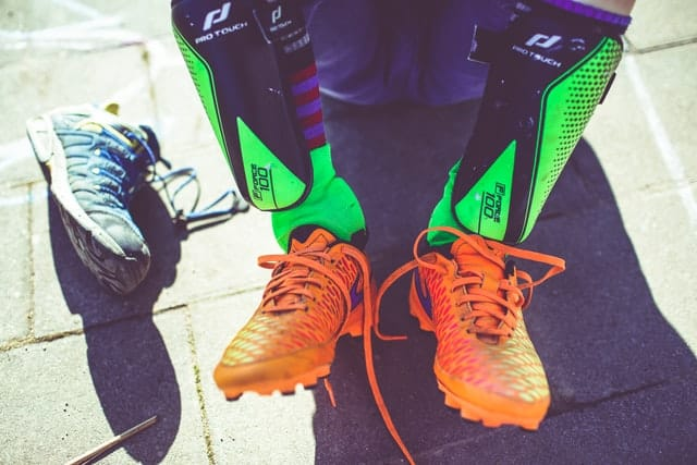 cleats and shin guards